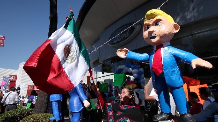 En México, se manifiestan contra llegada de Trump a la presidencia de EU