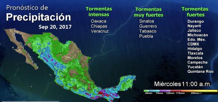 Pronóstico del tiempo para el 19 de septiembre