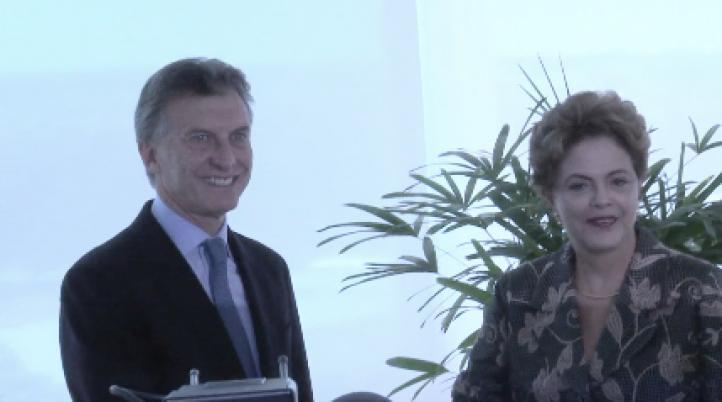 Rousseff y Macri se encuentran en Brasilia