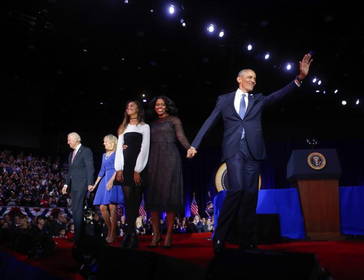 Obama conmueve con su último discurso como presidente de EU