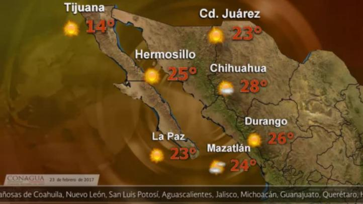 Pronóstico del tiempo para el 23 de febrero