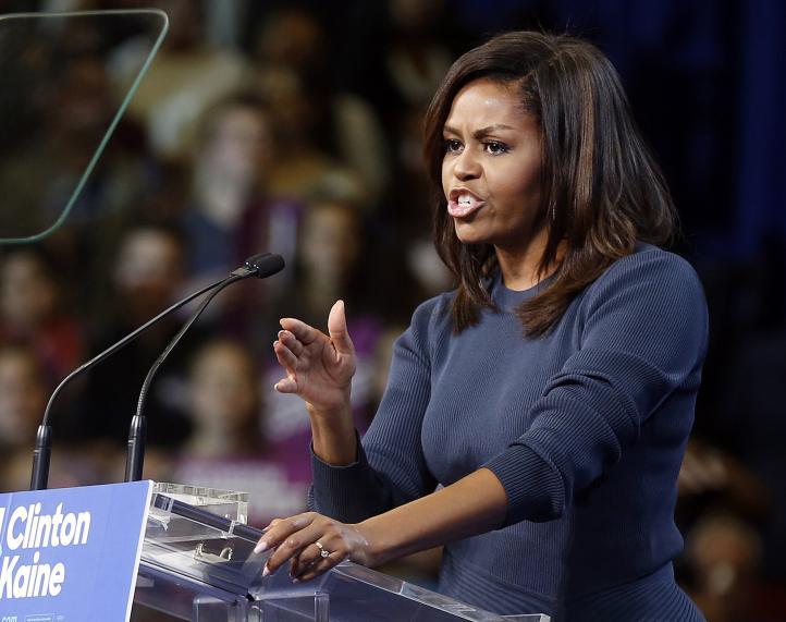 """Predador sexual"", llama Michelle Obama a Trump"