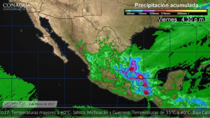 Pronóstico del tiempo para el 2 de marzo