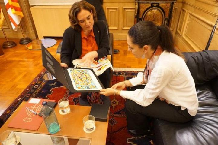 Sheinbaum firma acuerdo con la alcaldesa de Barcelona