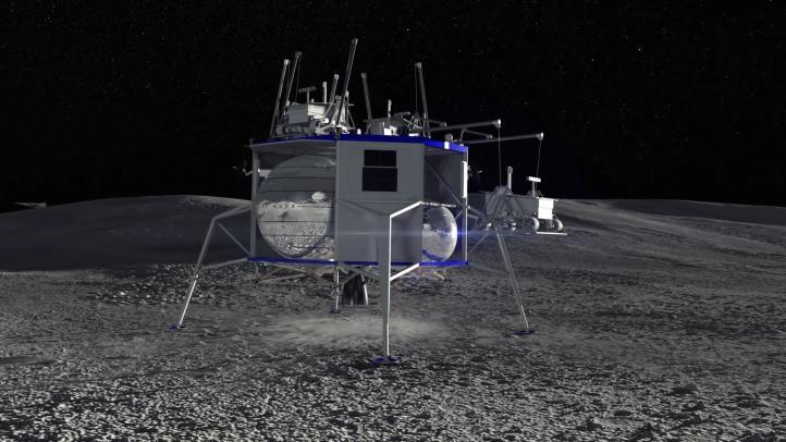 Así será la nave que Blue Origin enviará al polo sur de la Luna