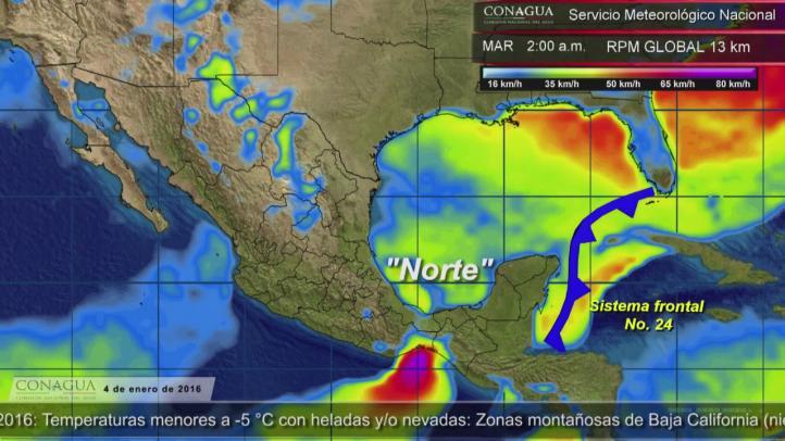 Frente frío provocará lluvias intensas en Chiapas y Tabasco