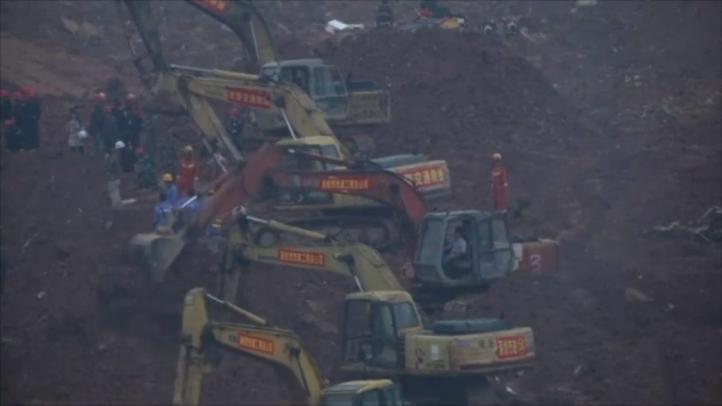 Difunden imágenes del alud en Shenzhen, China