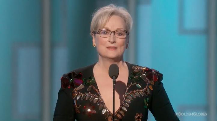 Meryl Streep lanza dura crítica contra Trump, al recibir el Globo de Oro por su trayectoria