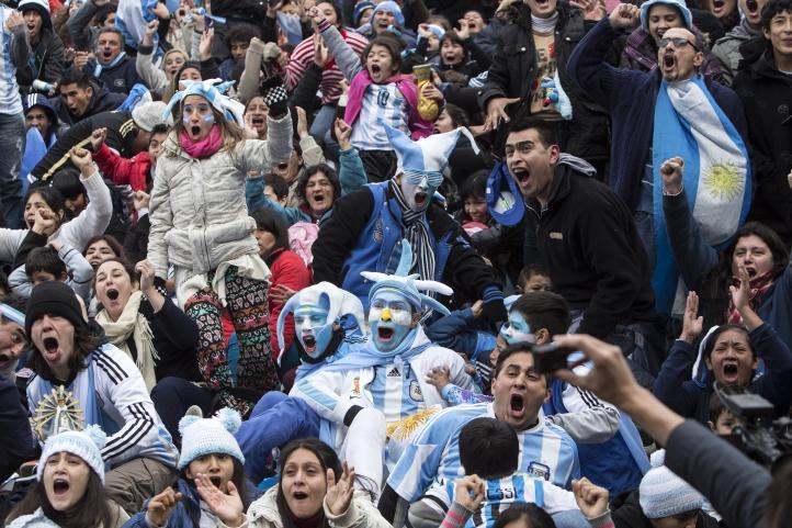 Reacciones de aficionados argentinos en Buenos Aires