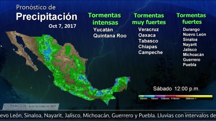 Pronóstico del tiempo para el 6 de octubre de 2017