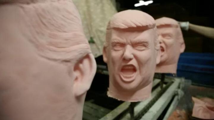 Fabrican en Japón máscaras de Donald Trump