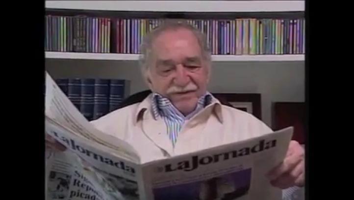 Gabriel García Márquez en el 25 aniversario de La Jornada
