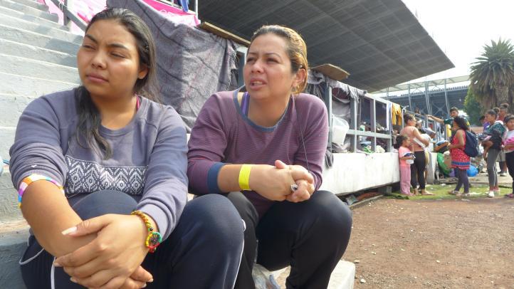 Caravana Migrante: Nancy y Rosa buscan una ciudad donde vivir su relación sin discriminación