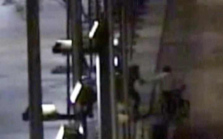 Monitoreo de cámaras de seguridad de robo a traseúnte