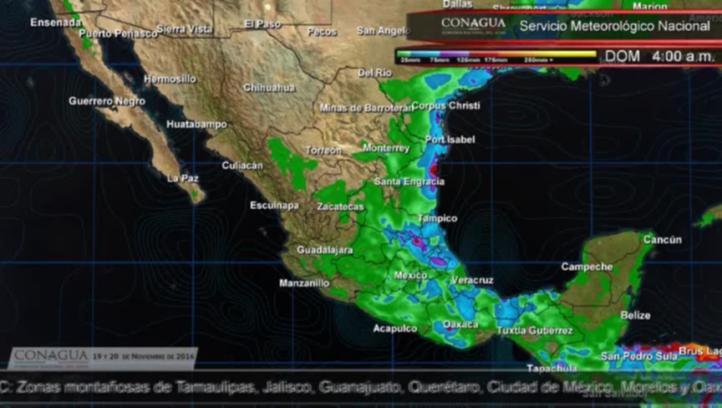 Pronóstico del tiempo para el 19 y 20 de noviembre