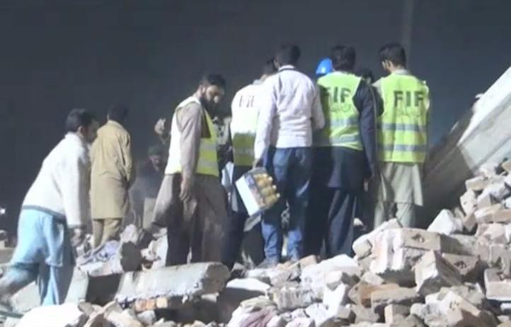 Al menos 18 muertos en derrumbe en Pakistán