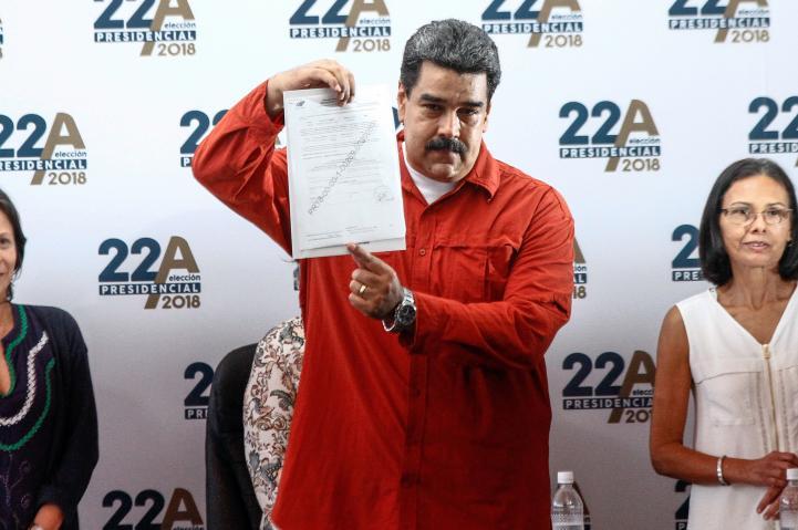 Maduro inscribe su candidatura para reelección en Venezuela