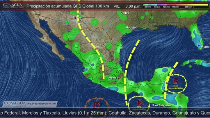 Pronóstico del Tiempo para el 26 y 27 de septiembre