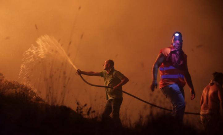 Incendios forestales en Portugal y España