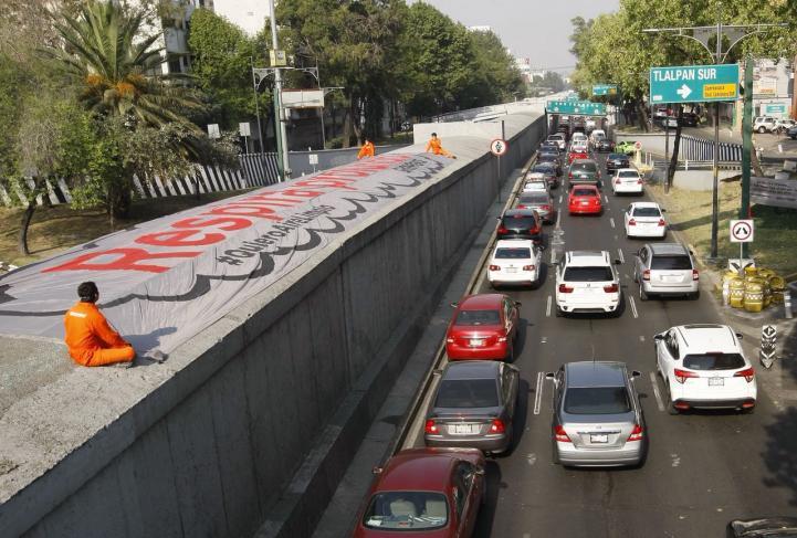 Activistas advierten sobre la mala calidad del aire en la CDMX