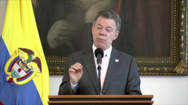Santos propone tregua bilateral con FARC a partir de 2016
