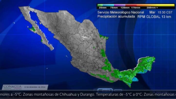 Pronóstico del tiempo para el 12 de diciembre