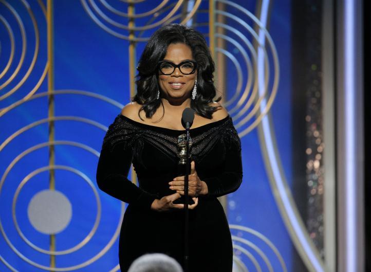 Oprah Winfrey contra el abuso y el acoso sexual en los Globos de Oro
