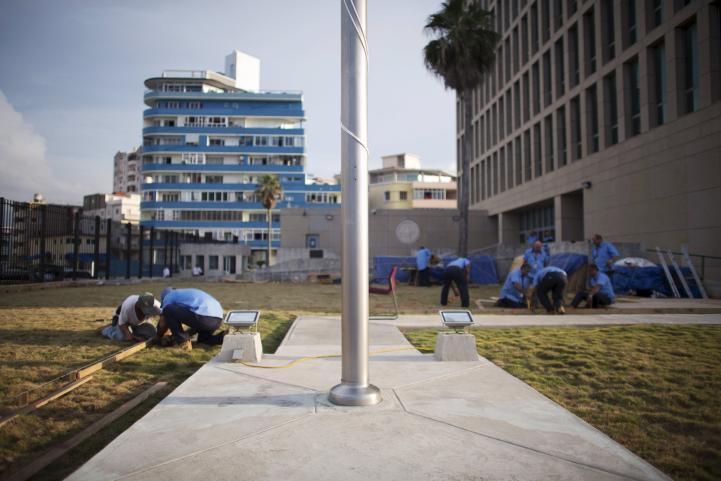 Preparan inauguración de la embajada de EU en Cuba