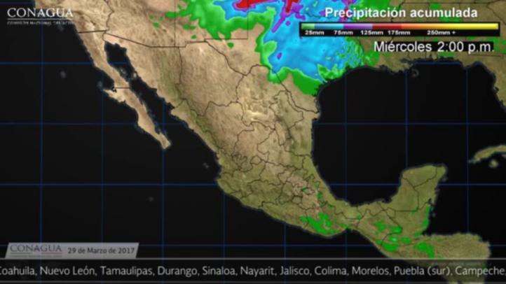 Pronóstico del tiempo para el 29 de marzo
