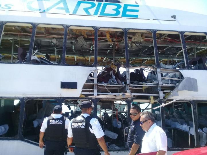 Al menos 13 heridos tras explosión de ferry de Barcos Caribe