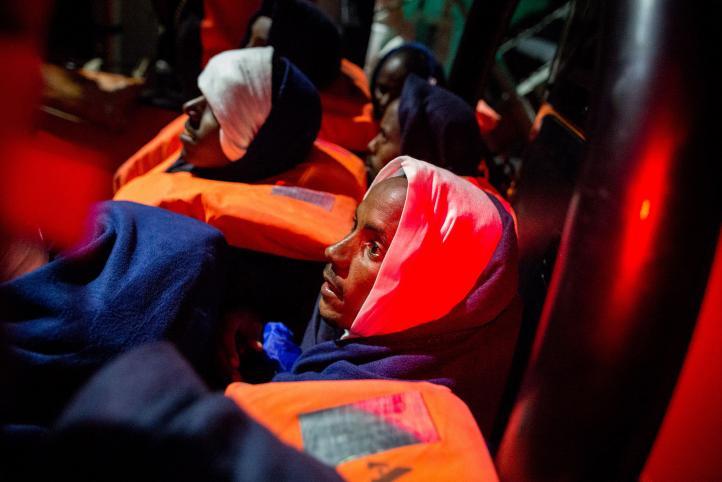 Rescatan a 134 migrantes en el Mediterráneo