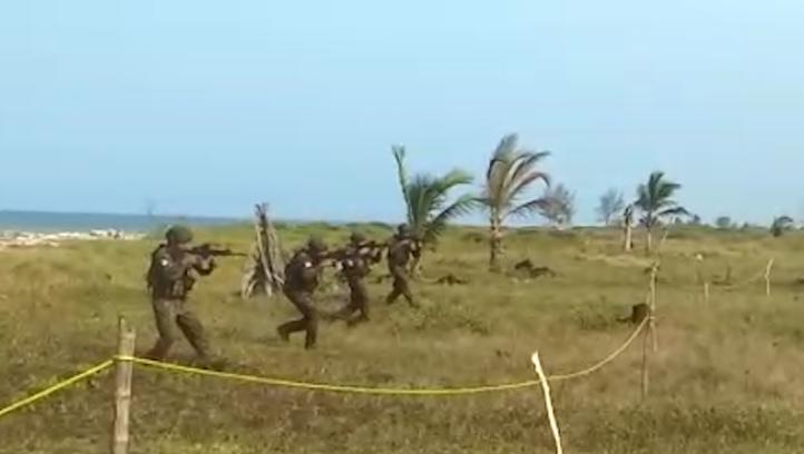 La Semar realiza una demostración de ejercicios en Tuxpan