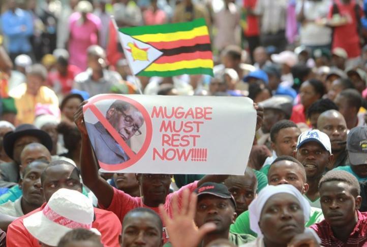 Mugabe renuncia como presidente de Zimbabue