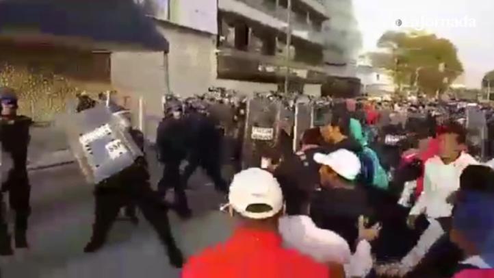 Repliegan a la CNTE en Televisa Chapultepec