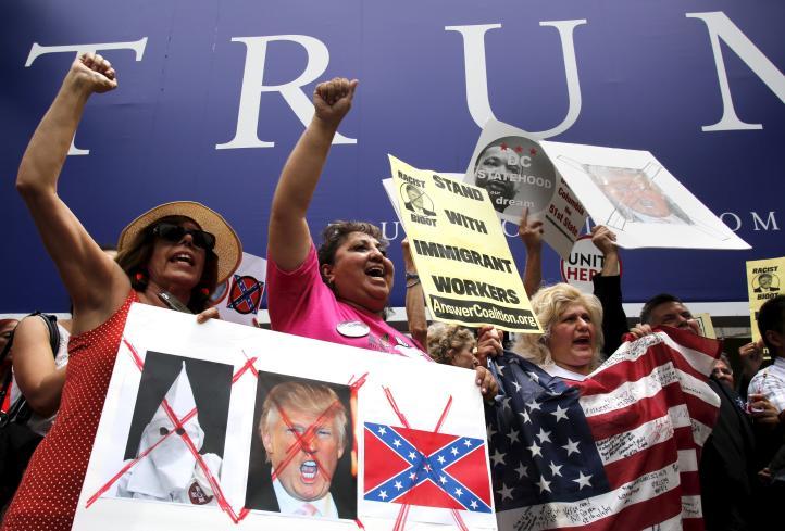Protesta en Washington por comentarios de Trump