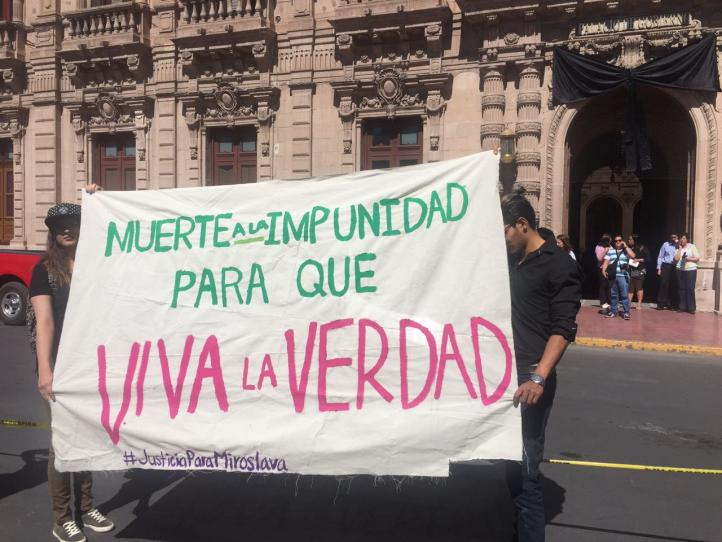 Protestan en Chihuahua; exigen justicia por Miroslava Breach