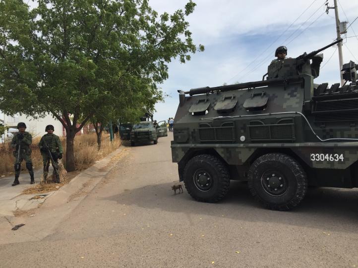 Militares realizan operativo en Culiacán
