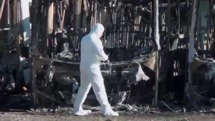 Se incendian 47 autobuses en terminal de Villahermosa