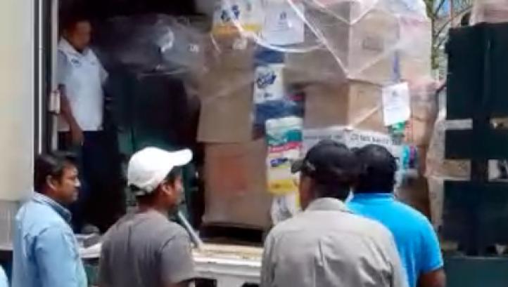 Llega a Oaxaca cargamento de donaciones de EU