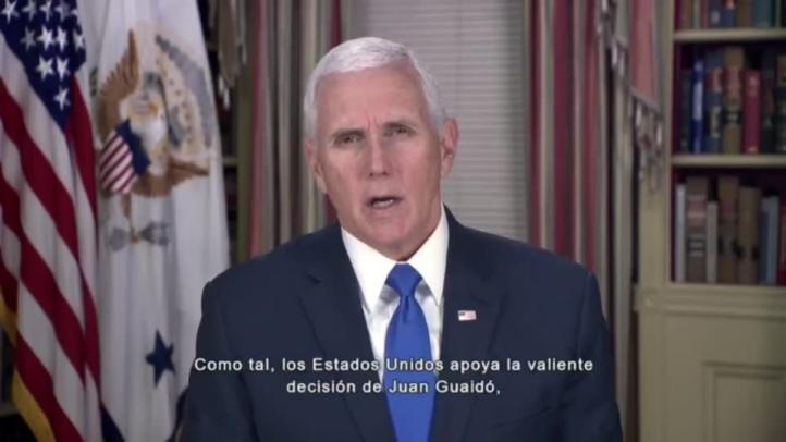 Pence apoya a oposición venezolana