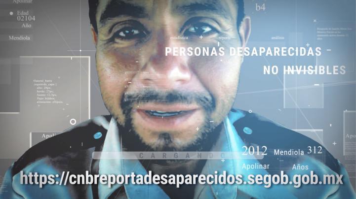 Espots sobre el nuevo sistema de reporte de desapariciones