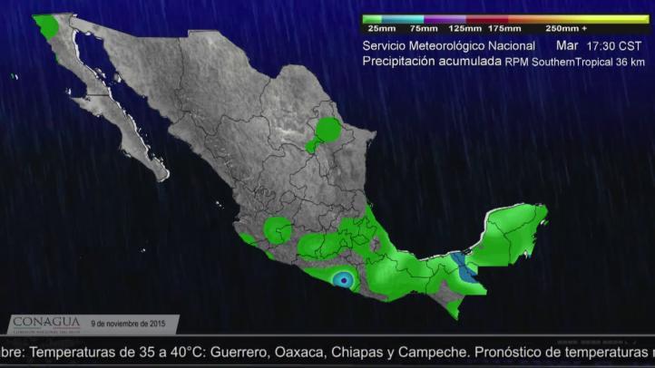 Pronóstico del tiempo para el 9 de noviembre