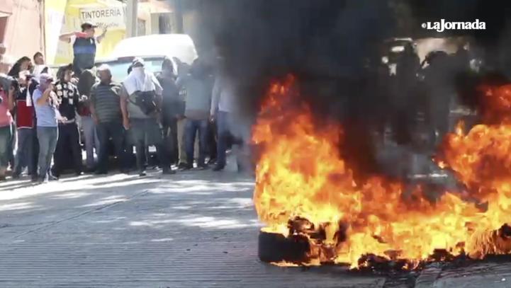 La CNTE boicotea mitin de Ulises Ruiz