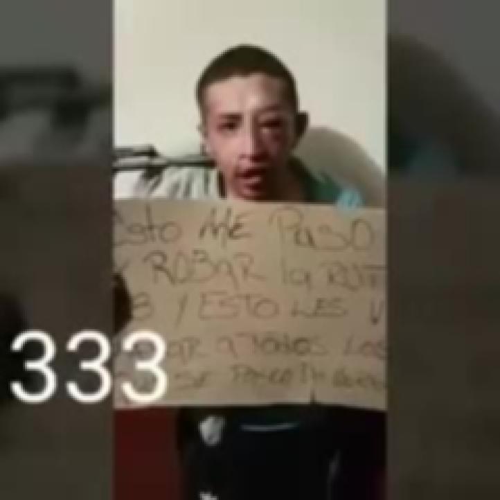 Difunden video donde un grupo de encapuchados somete a un presunto asaltante