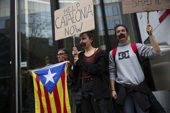 """""""Tsunami democrático"""", las protestas después de la sentencia contra independentistas catalanes"""