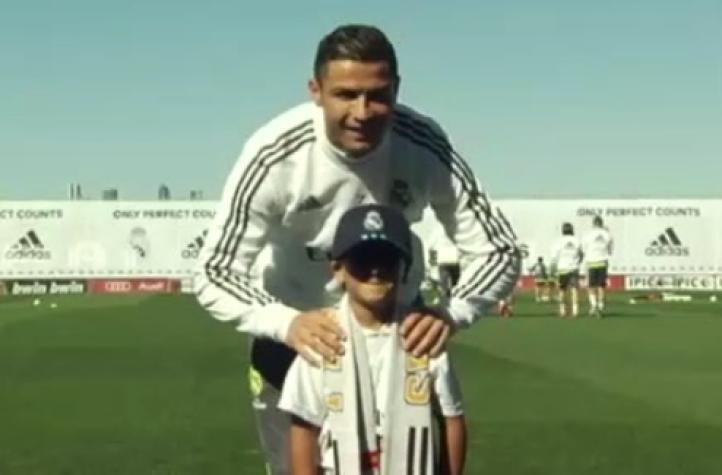 Niño refugiado de Siria conoce a Ronaldo