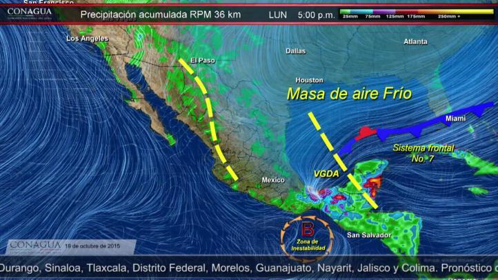 Pronóstico del tiempo del 19 de octubre