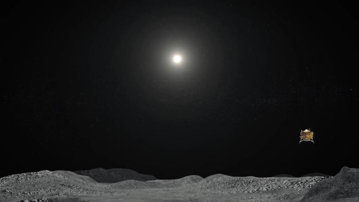 Buscan al aterrizador 'Vikram' de la India en sombras lunares