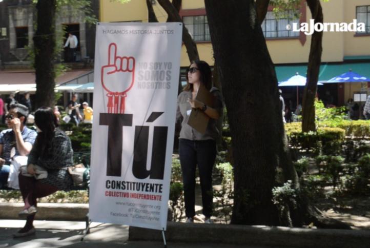 Independientes van por 74 mil firmas para conformar Constituyente de CDMX