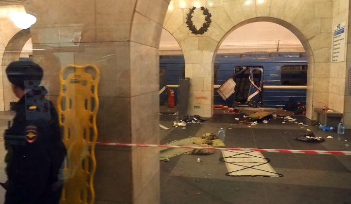 Explosión en metro de San Petersburgo